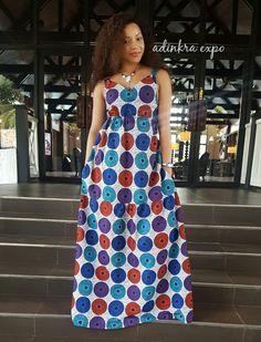 Yaya African Print Maxi Dress/ Ankara Dress / Ankara Gown by AdinkraExpo on Etsy