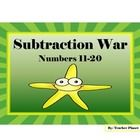 *   Follow me and be notified to get 30% off the first 3 days a new product is released! *  Subtraction War for numbers 11-20! A fun game for all! ...