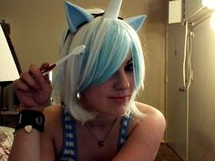 Voice actress and cosplayer Kira Buckland, aka 'Rina-chan'. (I had a HECK of a time trying to find a good Pinterest-friendly pic of her...I decided on this one from her Tumblr page, where she's in her Pony persona of Colgate...) #RinaChan