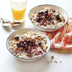 Flaxseed Oatmeal with Blueberries - MyRecipes
