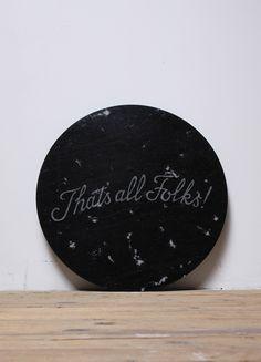 """Swyndle & Hawks, """"Thats all folks,"""" 2010, marble"""
