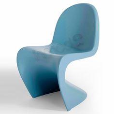 Panton kid's S chair...light blue or white...Jude's room