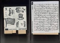 Stampin up Irish Blessing Verse in script and Happy Fourth set of 8 stamps.
