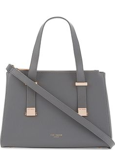 da599e78d906 TED BAKER Ameliee leather tote Ted Baker Bag, Ted Baker Womens, Grey Purses,