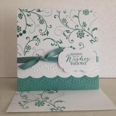 Birthday Card Ideas : Elegant Birthday Card by lesleybd Cards and Paper Crafts at Splitcoaststampers by betsy Birthday Cards For Women, Handmade Birthday Cards, Happy Birthday Cards, Female Birthday Cards, Bday Cards, Embossed Cards, Stamping Up Cards, Get Well Cards, Paper Cards