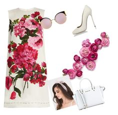 """""""Flower girl"""" by aamila12345678 ❤ liked on Polyvore featuring Dolce&Gabbana, MICHAEL Michael Kors, Fendi and Dsquared2"""