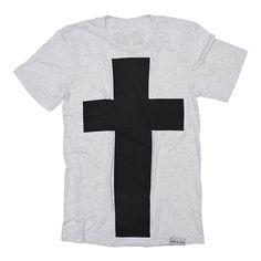 Cross White Fleck T-Shirt
