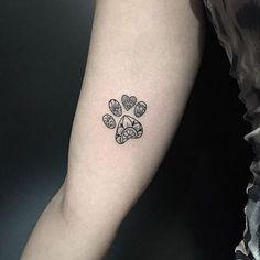 On left foot Mini Tattoos, Dog Tattoos, Animal Tattoos, Body Art Tattoos, Small Tattoos, Animal Lover Tattoo, Tattoo On, Tattoo Life, Piercing Tattoo