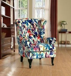 details about new wing back chair armchair fireside grey u0026 various colours