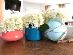 upcycled light globe vases