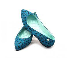 Ana Mello Calçados Femininos - Sapatilha Petite Jolie Verde com Formigas - Petite Jolie