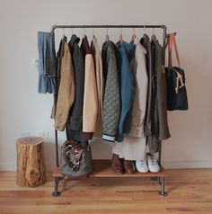 pipe clothes rack idea for new apartment