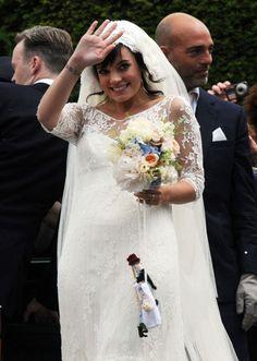 Lily Allen's beautiful vintage wedding dress