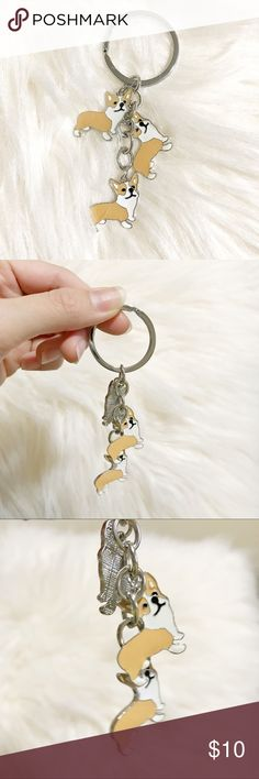 🐕 CORGI KEYCHAIN 🐕 Brand new!!  Lightweight   Same or next business day shipping!!! Accessories Key & Card Holders