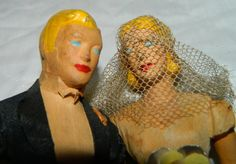 Vintage Composition Bride & Groom Wedding Cake by TheIDconnection Vintage 1930's Composition Bride & Groom Wedding Cake by TheIDconnection #Groom #Bride #wedding #cake #Toppers Retro 30's #Marriage #Etsy #Antiques #TheIDconnection World Wide Shipping rolanddressler@gmail.com