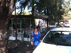 Breakfast in an outdoor stand in Los Reyes Michoacan MX.