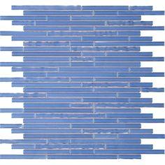 "Daltile Opulence Glass Mosaics - 3/8"" x Random Linear Pattern Solstice: GBTile Collections"