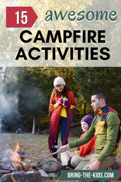 Looking for some awesome things to do around the campfire?  We've put together a list of 15 great activities to do around the campfire.  We've got great campfire games, ideas for fun at a bonfire, and even what to cook on a campfire! Camping Ideas, Camping Activities, Camping With Kids, Family Camping, Outdoor Activities, Family Travel, Outdoor Games For Kids, Outdoor Fun, Bonfire Games