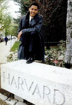 Barack Obama As A Young Man at Harvard