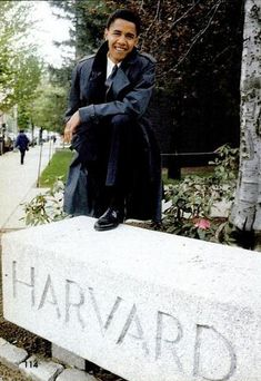 Barack Obama As A Young Man at Harvard