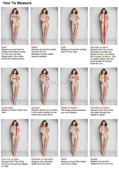 how to measure your body for a dress - Google Search