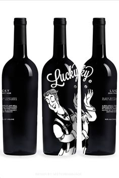 And now for some black and white bottle/label/package design. I wish these were real, but they are just samples for a design and the winemaker is fictitious as well. But, who knows, maybe someday I will be posting a real wine label with my work on it! Wine Bottle Design, Wine Label Design, Wine Bottle Labels, Liquor Bottles, Vides, Wine And Liquor, Bottle Packaging, In Vino Veritas, Wine And Spirits