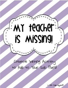 FREEBIE!!  This is a perfect creative writing project to add to your emergency sub plans!