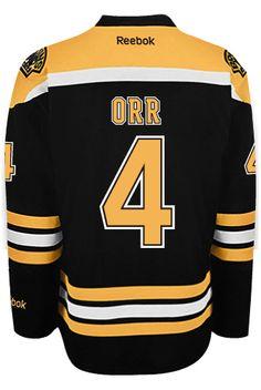 ... Boston Bruins VINTAGE Bobby ORR 4 A Official Home Reebok Premier  Replica NHL ... 319a9fe4d