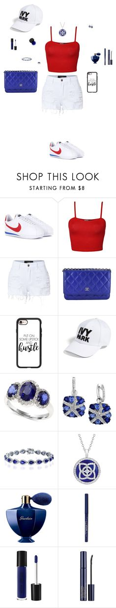 """""""Untitled #87"""" by mayashmila ❤ liked on Polyvore featuring NIKE, WearAll, LE3NO, Chanel, Casetify, Ivy Park, Effy Jewelry, Guerlain and MAKE UP FOR EVER"""