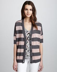 Oversize Jersey Cardigan by Milly at Bergdorf Goodman.