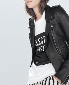 Until Balenciaga is in the budget (read: never!), this leather biker jacket by Zara will do nicely.