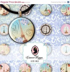 75% OFF SALE FRENCH Love Digital Collage Sheet 18 by cameoshoppe