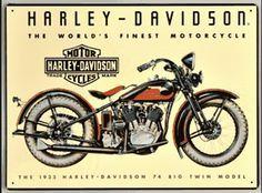 Harley Davidson 74 Big Twin Sign Ande Rooney Signs