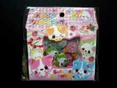 Kamio Japan Sweet Baby Kitty Special Sack Sticker Flakes