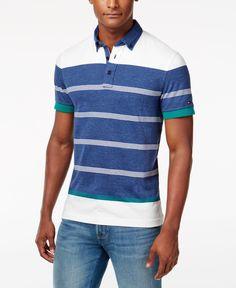 5a9972cf Tommy Hilfiger Men's Keaton Striped Polo & Reviews - Polos - Men - Macy's. Polo  T ShirtsShirt ...