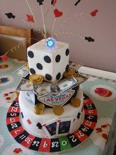 Poker Themed Cake Cakes Las Vegas Casino Gambling