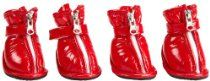 Dog It 90039 Style Rain Boots Red small Ballet Shoes, Dance Shoes, Pet Style, Aussie Dogs, Dog Boots, Brown Boots, Rubber Rain Boots, Red, Puppies