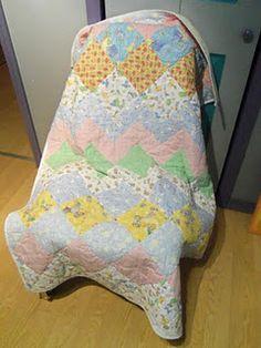 Baby sized quilt - chevrons/diamonds
