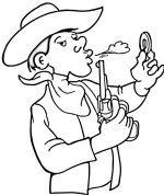 Deze kleurplaat en vele andere in het thema cowboys en indianen kun je vinden op de website van Juf Milou.