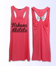Hey, I found this really awesome Etsy listing at http://www.etsy.com/listing/165404648/hakuna-matata-workout-fitness-bow-tank
