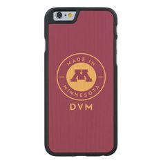 #gold - #College Of Veterinary Medicine | Gold DVM Logo Carved® Maple iPhone 6 Case