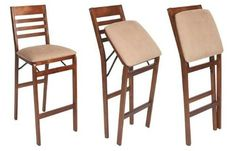 Folding portable stools    http://www.squidoo.com/folding-bar-stools