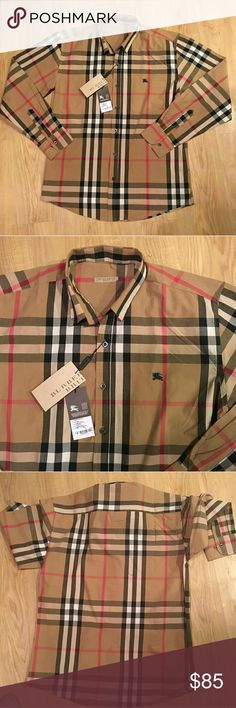 1cbae63ca Burberry shirt new size M fast usps priority 2-3 days shipping Burberry  Shirts Dress