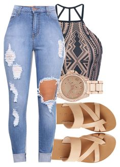 """Summer vibes✨"" by eazybreezy305 ❤ liked on Polyvore featuring KYMA, Triya, River Island, SimpleOutfits and summer2016"