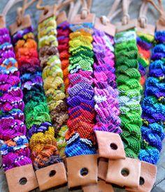 Wholesale 20, Plaited,cotton, leather, friendship bracelets, gifts, Guatemalan