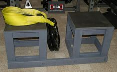 Homemade box stands Source by taschroeck Homemade Workout Equipment, Diy Gym Equipment, No Equipment Workout, Fitness Equipment, Home Made Gym, Diy Home Gym, Basement Gym, Garage Gym, Basement Finishing Systems