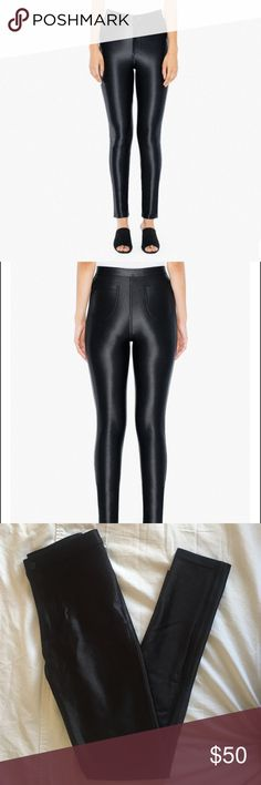 American Apparel Black Disco Pants AA black disco pants. Size small, fits true to size. American Apparel Pants Skinny