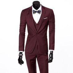 (Vest + suit + pants) 2016 men's fashion three-piece formal blazer suit / Male suit of cultivate one's morality Business suits