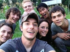 Director of 'The Maze Runner,' Wes Ball, shares photos with the Gladers on the set!! Ahhh!!