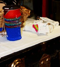Because on days even your coffee needs a hat. Upcycled Clothing, Delicate, Hat, Coffee, Fabric, Kaffee, Tejido, Hats, Cup Of Coffee